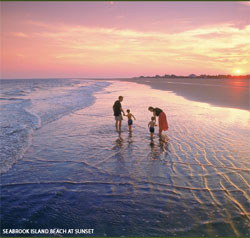 a photo of a Seabrook Island beach at sunset